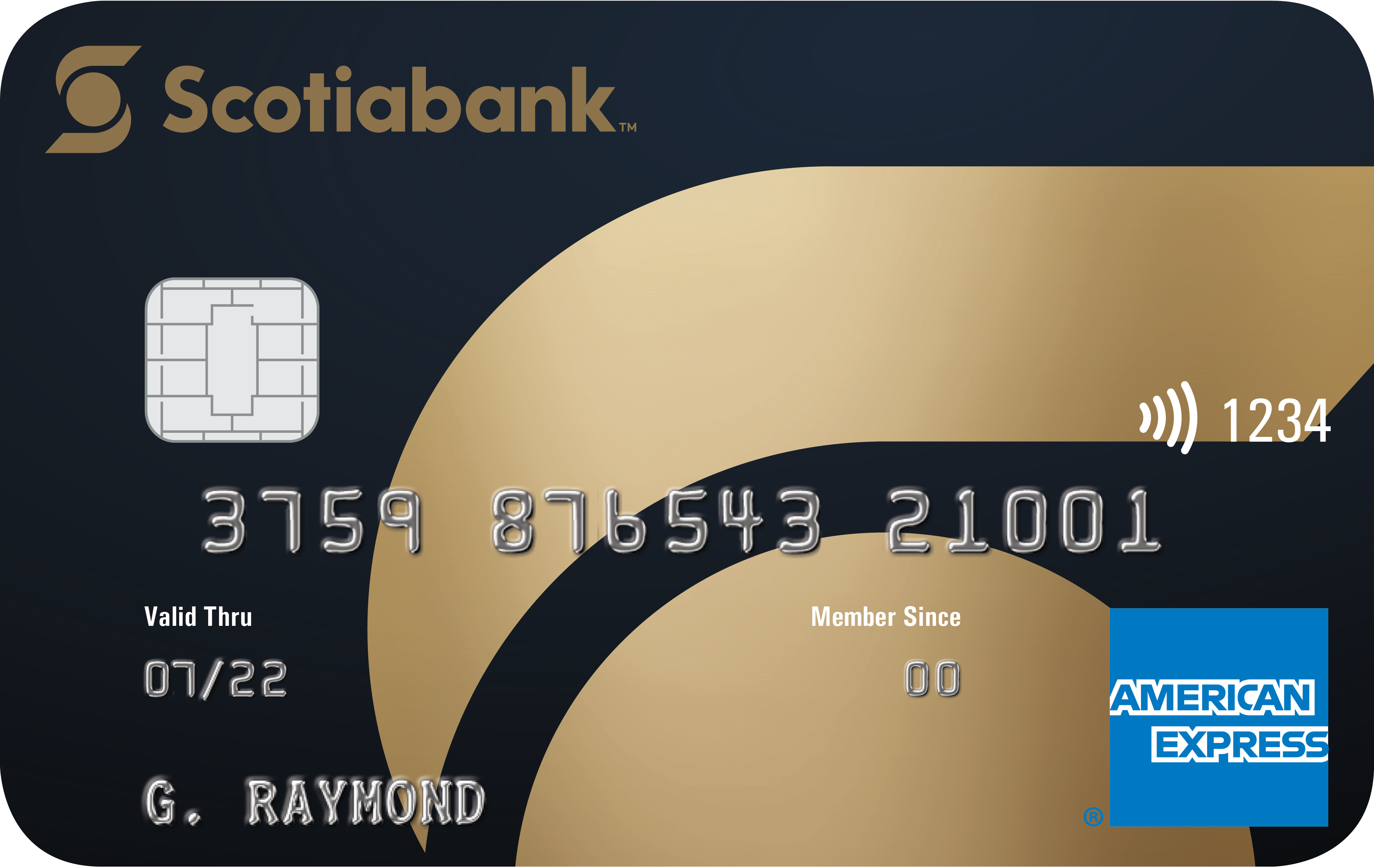Front of credit card from Scotiabank