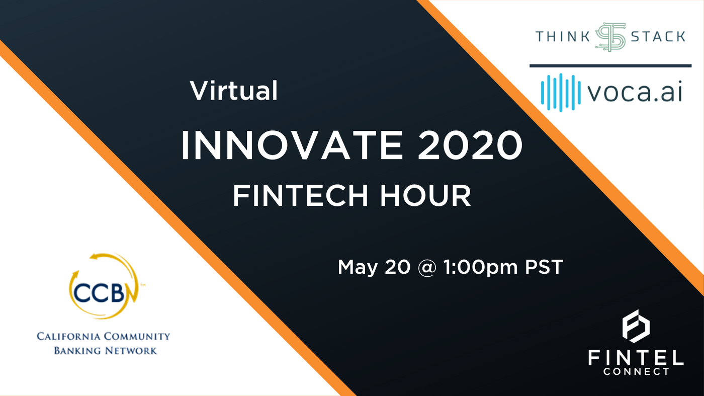 Fintel Connect to Participate in CCBN Virtual Innovate 2020 Fintech Hour